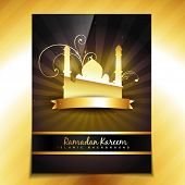 image of namaz  - vector shiny golden template design - JPG