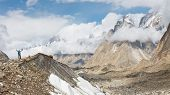 stock photo of karakoram  - Baltoro Glacier Trekking Adventure Karakorum Mountains Pakistan - JPG