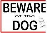 Постер, плакат: Остерегайтесь собака