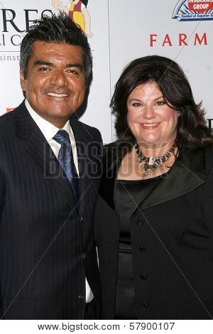 George Lopez and wife Ann  at the 8th Annual Padres Contra El Cancer's 'El Sueno De Esperanza' Benefit Gala. Hollywood and Highland Grand Ballroom, Hollywood, CA. 10-07-08