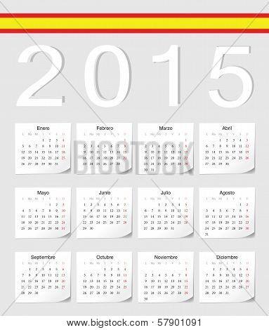 Spanish 2015 Calendar