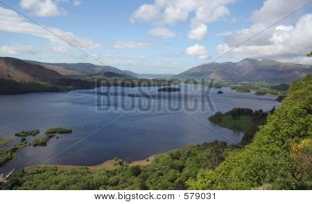 View Across Lake To Keswick,UK