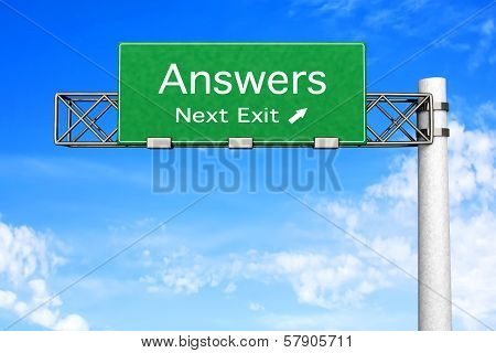 Highway Sign - Answers.