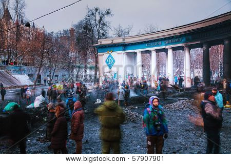 Protesters At Hrushevskogo Street In Kiev, Ukraine