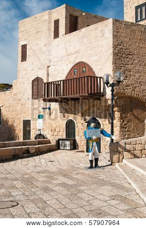 The centre of old city of Jaffa, Israel