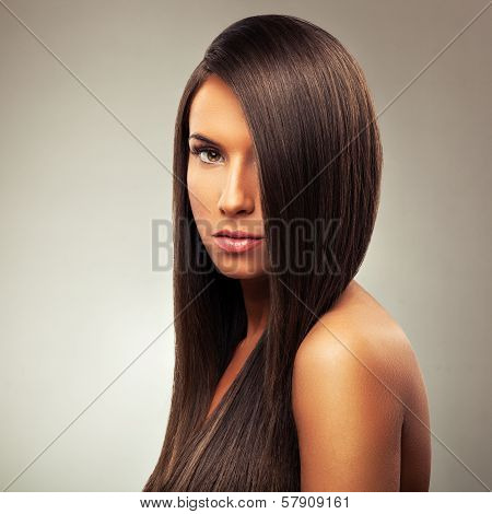 Young Woman With Beautiful Hairstyle
