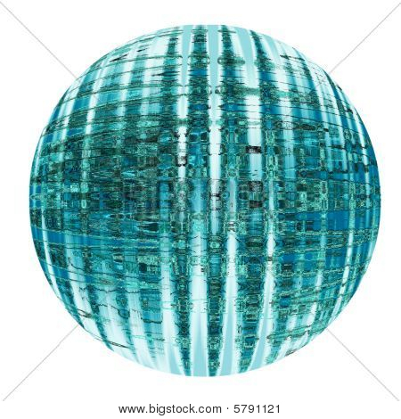 Teal Colored Sphere Or Globe