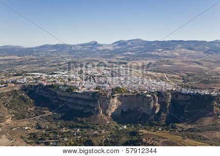 Aerial View Of The Town Of Ronda.