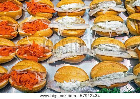 Different seafood burgers