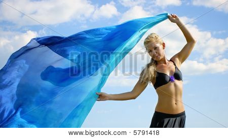 Goddess With Cloth
