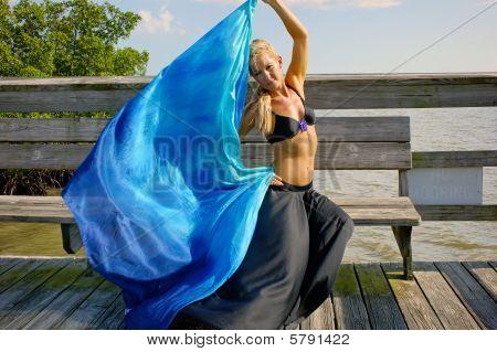 Sitting Dancer With Veil