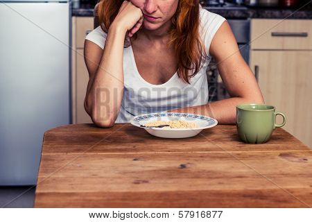 Woman Doesn't Want To Eat Her Cereal