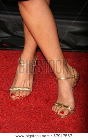 Liza Lapira's shoes  at the Los Angeles Premiere of 'Zack and Miri make a porno'. Grauman's Chinese Theater, Hollywood, CA. 10-20-08