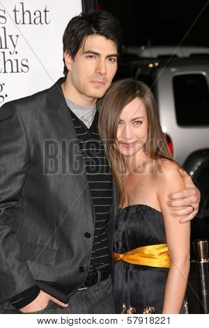 Brandon Routh and Courtney Ford  at the Los Angeles Premiere of 'Zack and Miri make a porno'. Grauman's Chinese Theater, Hollywood, CA. 10-20-08