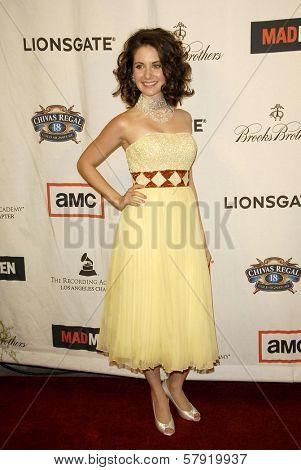 Alison Brie  at the live revue A Night On The Town With 'Mad Men'. El Rey Theater, Los Angeles, CA. 10-21-08