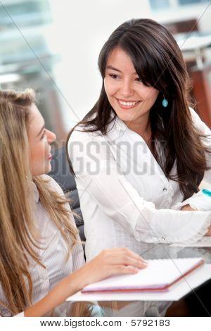 Business Women In An Office