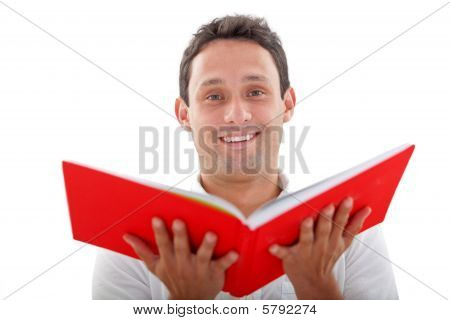 Man With An Opened Book