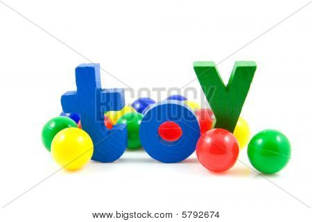 Word Toy With Colorful Balls
