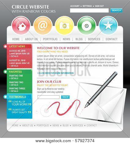Rainbow Art Internet Website Template