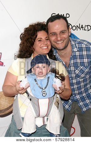 Marissa Jaret Winokur with Judah Miller and son Zev  at Camp Ronald McDonald's 16th Annual Family Halloween Carnival. Universal Studios, Universal City, CA. 10-26-08