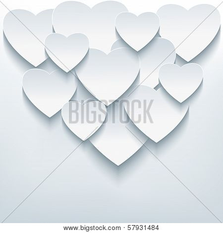 Stylish Creative Abstract Background With 3D Hearts