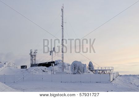 Snow-covered Cell Site In Arctic