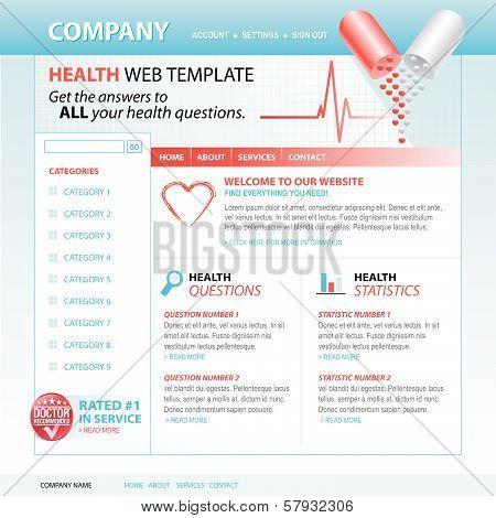 Medical Health Internet Website Template