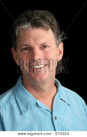 Mature Man On Black - Relaxed
