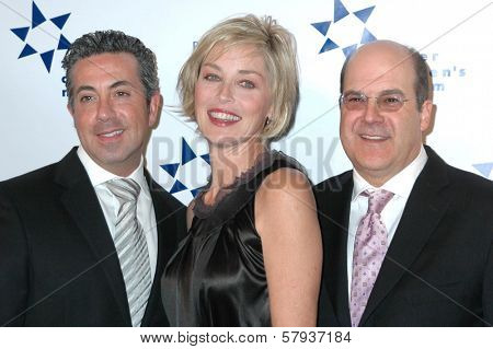Dr. Charles J. Sophy with Sharon Stone and Jeff Wachtel  at Zimmer Children's Museum's 8th Annual Discovery Award Dinner. The Beverly Hills Hotel, Beverly Hills, CA. 11-06-08