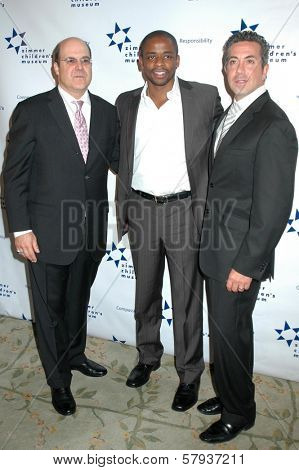 Jeff Wachtel with Dule Hill and Dr. Charles J. Sophy  at Zimmer Children's Museum's 8th Annual Discovery Award Dinner. The Beverly Hills Hotel, Beverly Hills, CA. 11-06-08