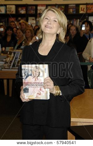 Martha Stewart  at an in store appearance to promote her new book 'Martha Stewart's Cooking School'. Barnes and Noble, Glendale, CA. 11-10-08