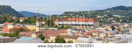 Linz Cityscape With Schlossmuseum And Tower Of Upper Austrian Landtag (parliament), Austria