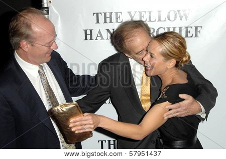 William Hurt with Arthur Cohn and Maria Bello  at the Los Angeles Premiere of 'The Yellow Handkerchief'. WGA Theatre, Beverly Hills, CA. 11-25-08