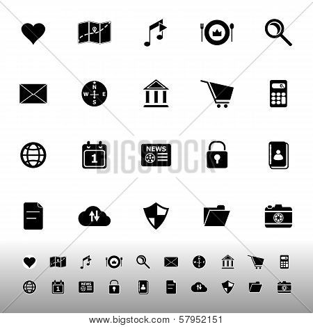 General Application Icons On White Background