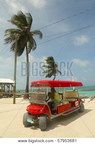 Taxi service at Caye Caulker, Belize