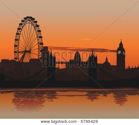 Londres ao pôr do sol