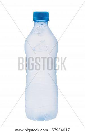 Plastic bottle with frozen water