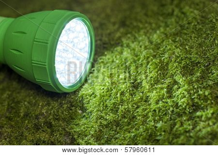 Close up LED flashlight