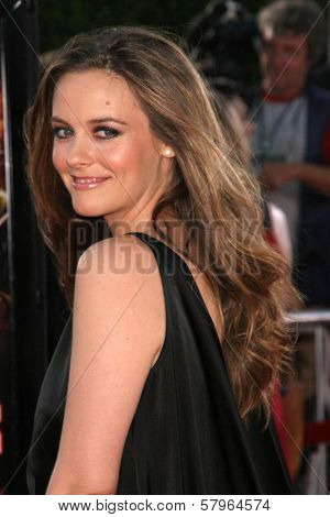 Alicia Silverstone  at the Los Angeles Premiere of 'Tropic Thunder'. Mann's Village Theater, Westwood, CA. 08-11-08