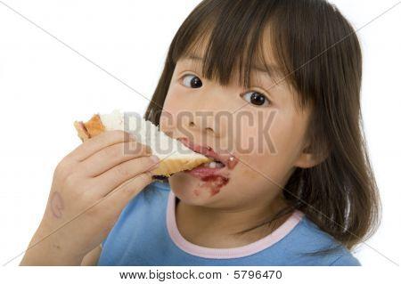 Erdnussbutter-sandwich