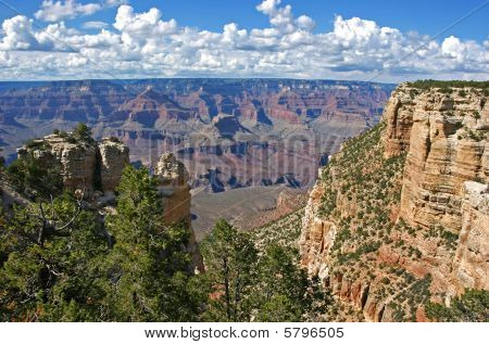 Grand Canyon with a cloudy sky