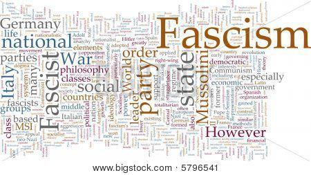 Nuvem de palavras do fascismo
