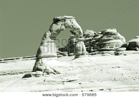 Delicate Arch In Sepia