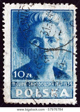 Postage Stamp Poland 1947 Marie Sklodowska Curie, Scientist
