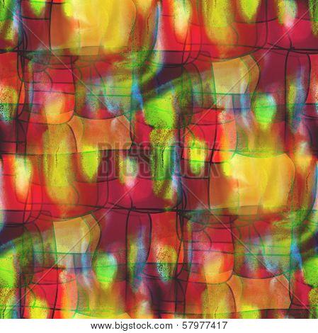 artist grunge texture, watercolor green red