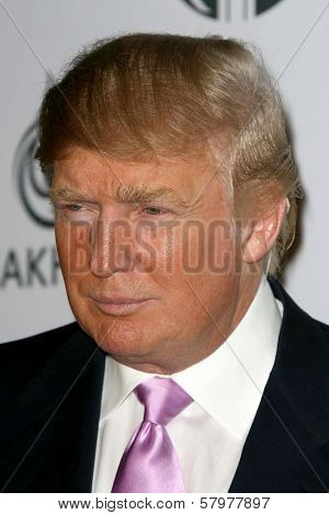 Donald Trump  at a party to introduce the Trump Tower Dubai. The Tar Estate, Bel Air, CA. 08-23-08