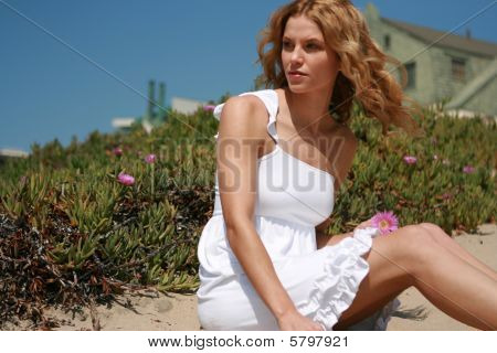 Beautiful Woman At The Beach