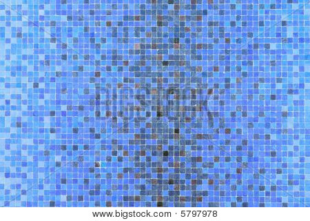 Blue Colored Mosaic Squares