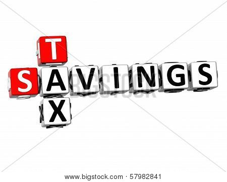 3D Savings Tax Crossword