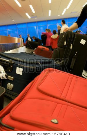 Baggage Pickup At Airport